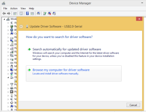 CH340 Windows 8 driver installation step 2