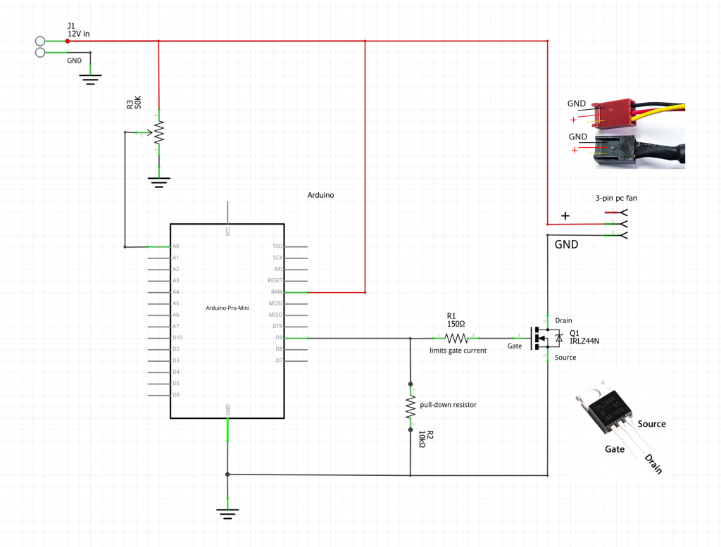 3-pin PWM pc fan control